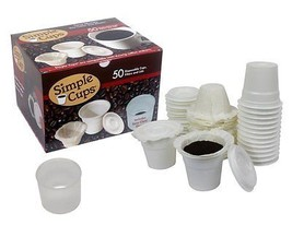 Disposable Cups for Use in Keurig Brewers - Simple Cups - 50 Cups, Lids,... - £22.72 GBP