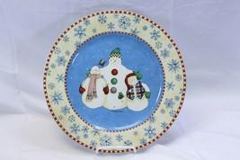 "Sakura Debbie Mumm Snowflake Chop Plate Xmas Platter 12.5"" - $28.42"