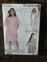 New Uncut SIMPLICITY BB Pattern R10144 Womens DRESS TOP SHORTS US Sz 20W... - $3.88