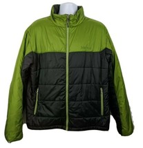 Marmot Jacket Green Black Quilted Size XL Mens - $49.49
