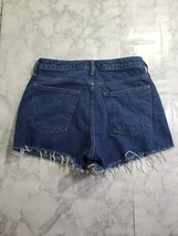 Forever 21 Shorts Size 27 Womens Dark Wash High Rise Raw Hem Denim - $16.91