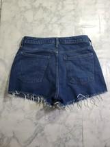 Forever 21 Shorts Size 27 Womens Dark Wash High Rise Raw Hem Denim - $16.91
