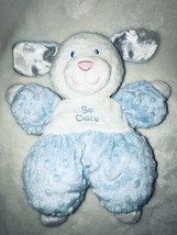 Kids Preferred Blue White So Cute Puppy Dog Minky Dot Plush Stuffed Baby... - $24.97