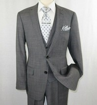 Mens Apollo King 3 piece Business Suit Vest with Lapel Sharkskin SL203 G... - $135.00