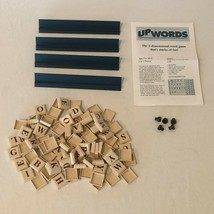UpWords Board Game Replacement Parts Pieces 100 Plastic Letter Tiles Rac... - $4.99