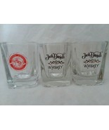 3 Square Shot Glass 2 and Half in Tall 2 Ounce WKU Heavy Bottom Jack Dan... - $12.99