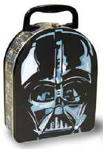 Star Wars Vader Head Shape Carry All Tin Lunchbox NEW UNUSED - $13.50