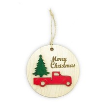 Christmas Tree Ornament - Merry Christmas - Christmas Pine Tree Topper -... - $5.99