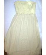 New Womens $230 10 NWT Ralph Lauren Dress Evening Gown Yellow Strapless ... - $52.00