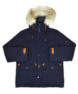 Brooks Brothers ProSport Mens Blue Hooded Nylon Parka Jacket Sz Large L ... - $322.13