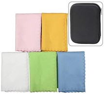 Luvay 5pcs Microfiber Polishing Cleaning Cloth with Case EVA Box for Mus... - $10.61