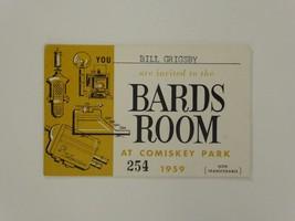 Bill Grigsby Bards Room Comiskey Park Radio Announcer 1959 Season Pass W... - $98.99