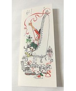 Girl Lady Cat Hallmark Christmas Vintage Card Musical Notes UNUSED With ... - $13.32