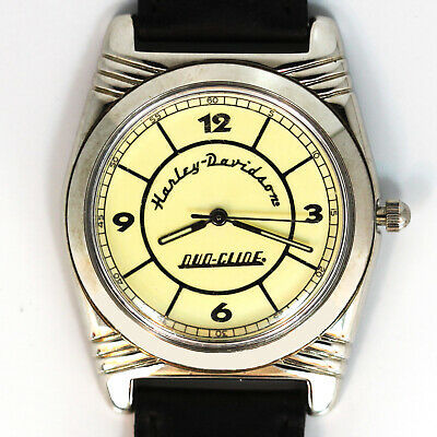 Primary image for Harley Davidson Vintage Rare Duo-Glide, White Dial Unworn Silver Tone Watch $149