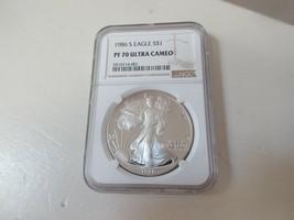 1986  S  Eagle $S1  PF 70 Ultra Cameo  NGC  Silver Eagle - $787.05