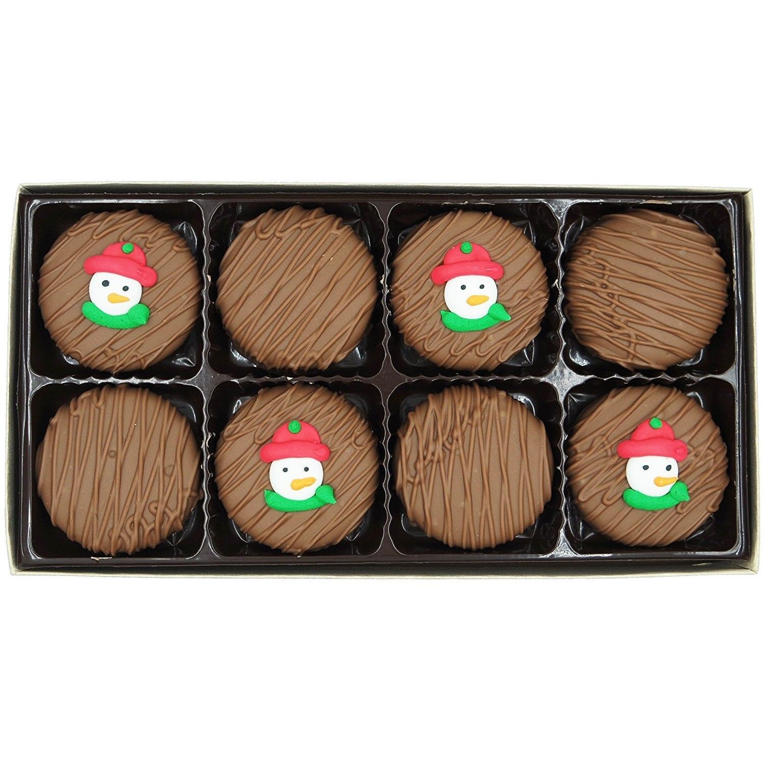 Philadelphia Candies Winter Holiday Snowman Face Milk Chocolate OREO® Cookies
