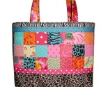 Tropical Travel Bag, Travel Bag For Shoes, Turquoise Pink Tote Bag, Shoe Bag