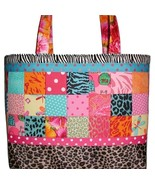 Tropical Travel Bag, Travel Bag For Shoes, Turquoise Pink Tote Bag, Shoe... - $175.00