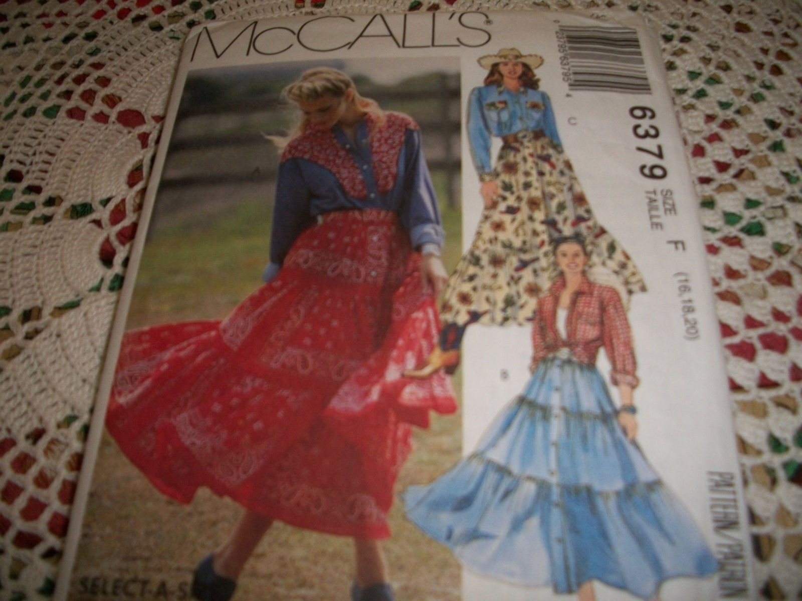McCall's 6379 Misses' Shirt, Skirt & Belt Pattern