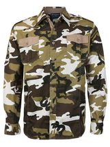 Men's US Military American Long Sleeve Button Up Camo Casual Dress Shirt image 8