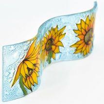 Fused Art Glass Sunflowers Flowers Wavy Decor Sun Catcher Handmade in Ecuador image 5