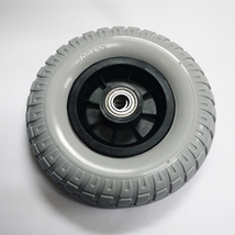 X1 Drive Front Wheel 200X50 Solid Urethane Gray Tire +Rim mobility scoot... - $32.00