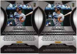 (2) 2019 Panini Prizm #40 Jose Altuve/Prizms Purple Parallel Baseball Cards - $4.00