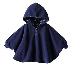 Baby Clothing Baby Cloak Shawl Thick Blankets Dark BLUE Double-Sided Cloak