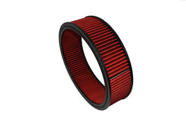 "HIGH FLOW WASHABLE & REUSABLE ROUND AIR FILTER ELEMENT REPLACEMENT 14"" X 4"" RED image 5"