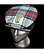 The Old Course St Andrews Links Stewart Tartan Ghillie Flat Snap Brim Go... - $39.99