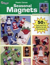 Seasonal Magnets 50+ Holiday Designs TNS Plastic Canvas Pattern Booklet ... - $9.87