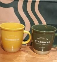 Starbucks 2021 bicolor Mug Green Yellow Set Technical Porcelain 355ml Li... - $94.99