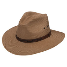 Stetson Poly Braid Straw Hat Vented Pinchfront Crown Size M - $42.08