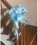 Baby Boy Gender Reveal Door Banister Mailbox Blue Ribbon Bow Pink Girl - $16.99