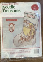 Needle Treasures Counted Cross-Stitch Kit - Santa and His Team Stocking ... - $12.87