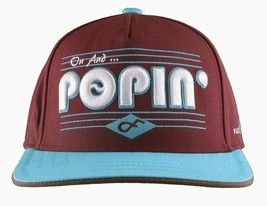 Flat Fitty On And Popin Burgundy Carolina Blue SnapBack Baseball Cap Hat NWT image 1