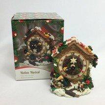 Christmas Cuckoo Clock Holiday Motion Musical Deck the Halls in Box Elves  - $556,63 MXN