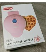 """new Dash Mini 4"""" Non Stick Heart Waffle Maker Perfect for Single Serving... - $48.02"""