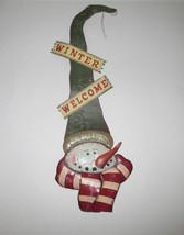"""20"""" Holiday Metal Wall Hangings Door Decor - Winter Welcome - $1.99"""