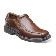 mens Work shoes Nunn Bush Bleeker CognacBrown Leather Comfort Casual 84357-221 - $83.70