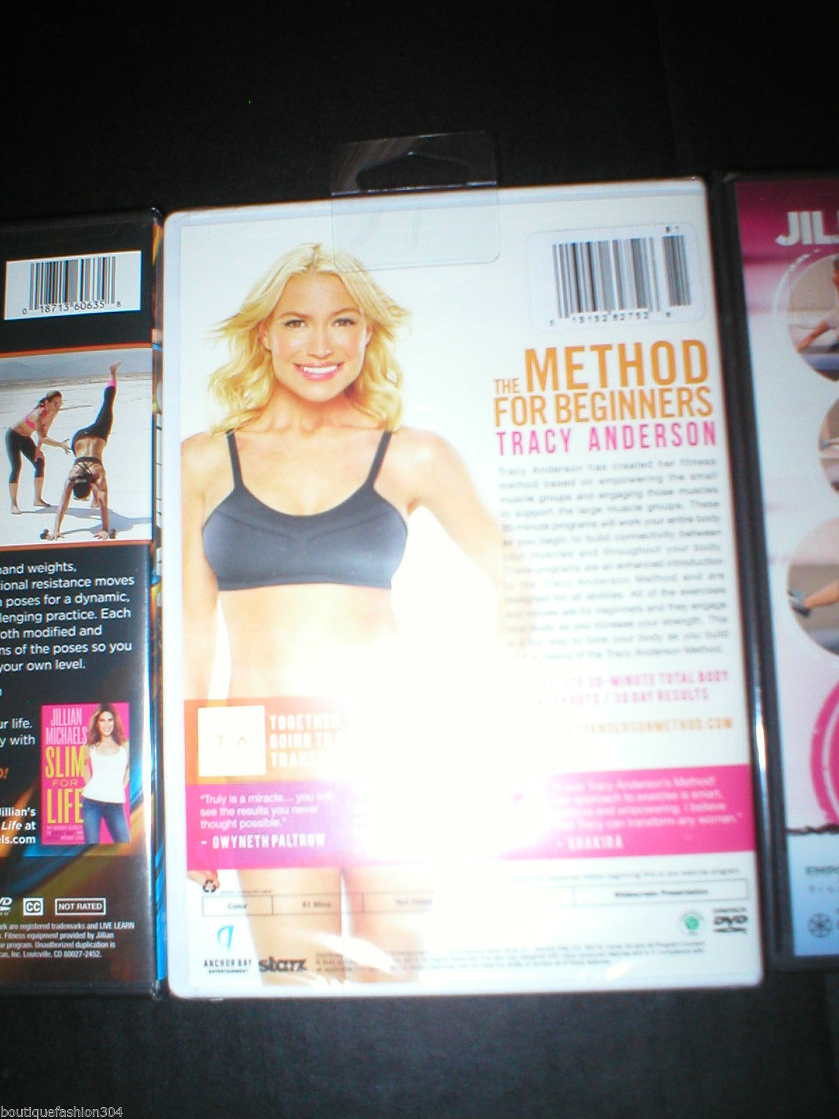New DVD 3 Lot Yoga Shed & Shred Method Jillian Michaels Tracy Anderson 6 Workout image 8