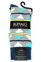 Buffalo David Bitton Gray & Aqua Clouds Colorful Socks - $18 Retail - Br... - $11.69