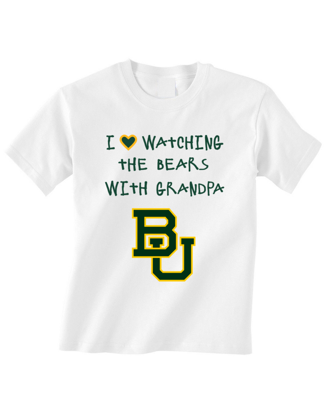 Primary image for Baylor Bears Toddler Tshirt Shirt Love Watching With Grandpa