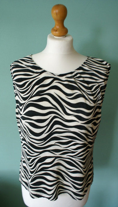 Primary image for Evie Abstract Zebra blouse, zebra top, black and white stripes