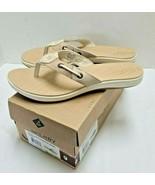 Sperry Women's Tan White Seabrook Sandal Flip Flops Size-9 - $38.60