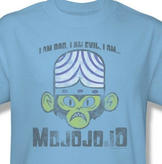 Mojojojo I am Bad Evil T-shirt Powerpuff Girls 100% cotton graphic tee cn241