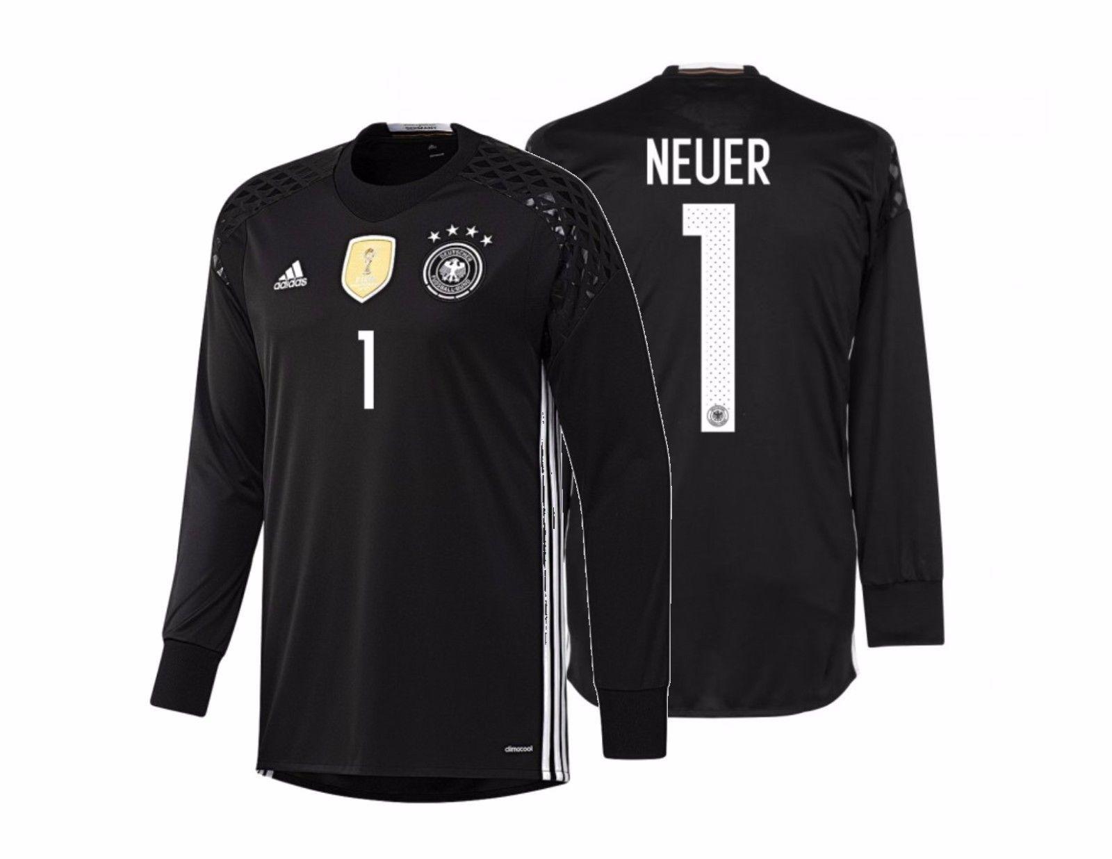 57. 57. Previous. ADIDAS MANUEL NEUER GERMANY EURO 2016 GOALKEEPER HOME  JERSEY Black White. ADIDAS MANUEL NEUER ... 7edb4968c