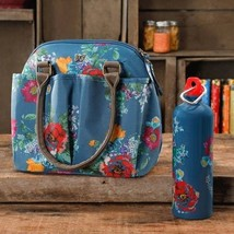Country Garden Lunch Tote Water Bottle Kitchen Storage Mini Bag Water Bo... - $32.31