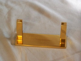 "Brass Business Card Holder, Executive Series, approx 4.25"" x 1.6"" x 2.8"" - $8.53"