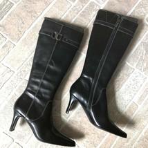 """Reduced!! Anne Klein """"Iflex"""" Gleama Black Knee High 100% Leather Boots 5 1/2 - $25.59"""